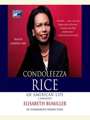 cover image of Condoleezza Rice