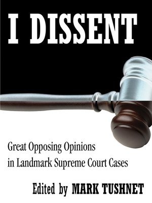 cover image of I Dissent