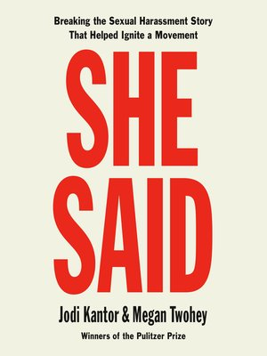 cover image of She Said