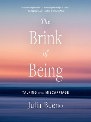 cover image of The Brink of Being