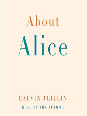 cover image of About Alice