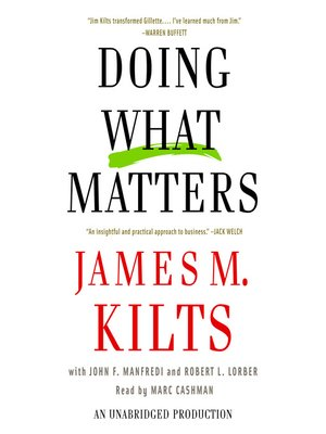 cover image of Doing What Matters