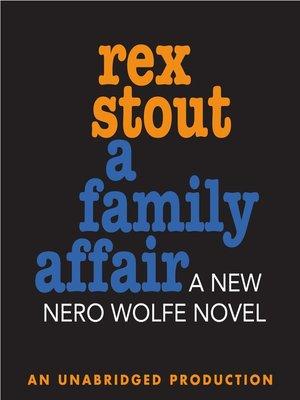 cover image of A Family Affair