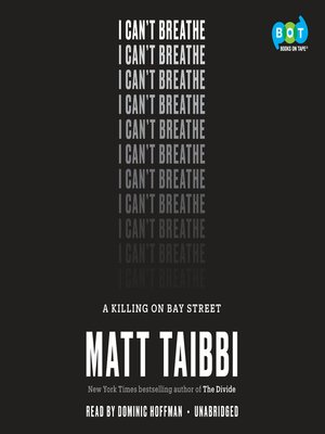 cover image of I Can't Breathe