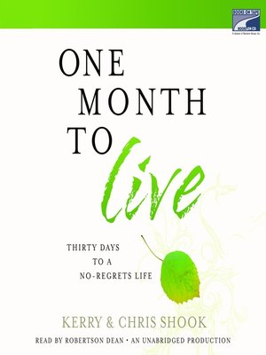 cover image of One Month to Live