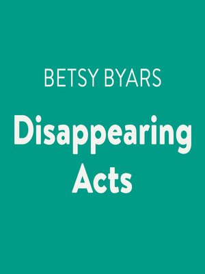 cover image of Disappearing Acts