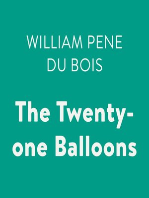 cover image of The Twenty-one Balloons