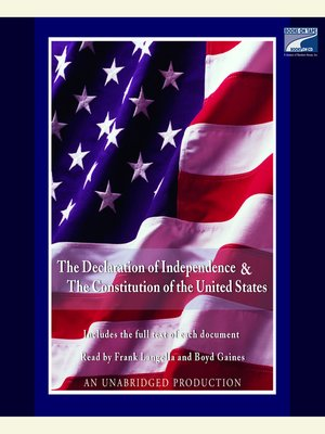 cover image of The Declaration of Independence and the Constitution of the United States
