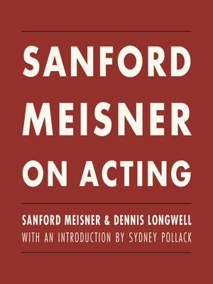 cover image of Sanford Meisner on Acting
