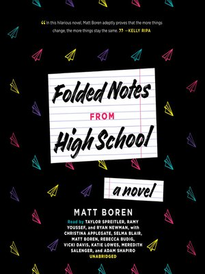 cover image of Folded Notes from High School