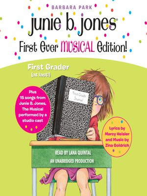 cover image of Junie B. Jones First Ever MUSICAL Edition!
