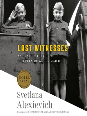cover image of Last Witnesses
