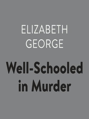 cover image of Well-Schooled in Murder