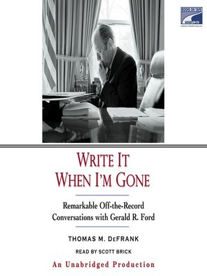 cover image of Write It When I'm Gone