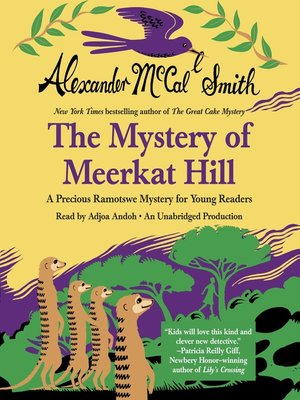 cover image of The Mystery of Meerkat Hill
