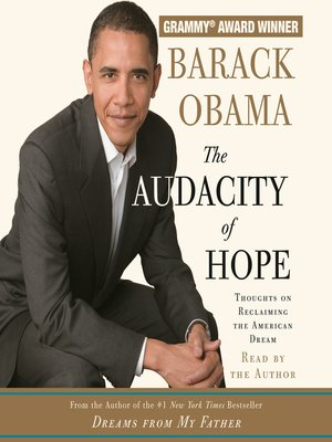 cover image of The Audacity of Hope