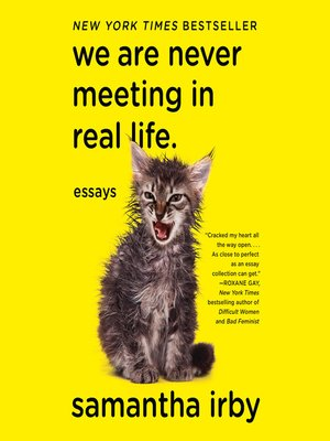cover image of We Are Never Meeting in Real Life