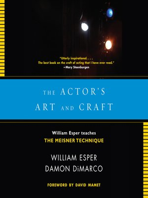 cover image of The Actor's Art and Craft