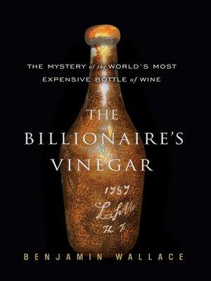 cover image of The Billionaire's Vinegar