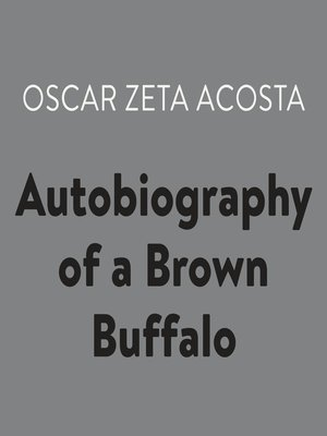 cover image of Autobiography of a Brown Buffalo
