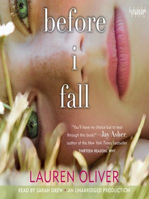 cover image of Before I Fall