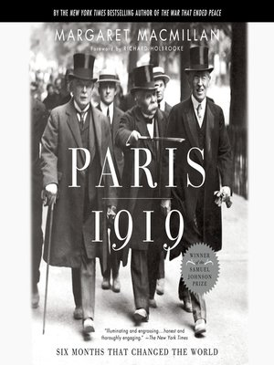 cover image of Paris 1919