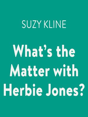 cover image of What's the Matter with Herbie Jones?