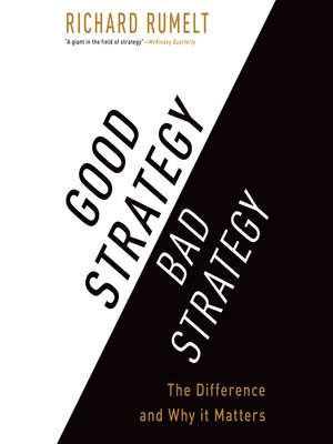 cover image of Good Strategy Bad Strategy