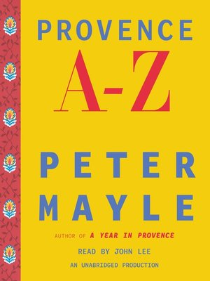 cover image of Provence A-Z