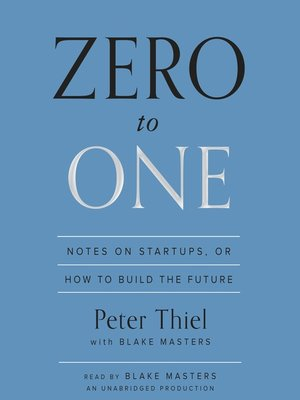 cover image of Zero to One