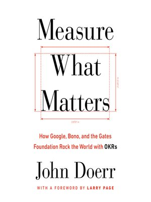 cover image of Measure What Matters