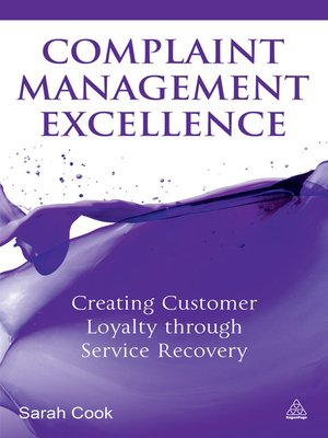 cover image of Complaint Management Excellence