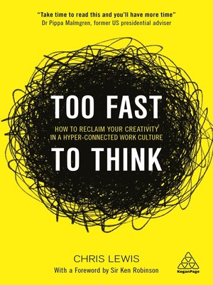 cover image of Too Fast to Think