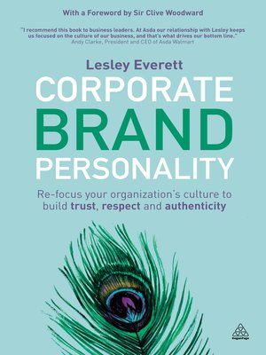cover image of Corporate Brand Personality