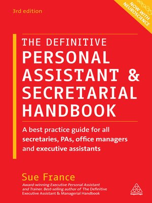 cover image of The Definitive Personal Assistant & Secretarial Handbook