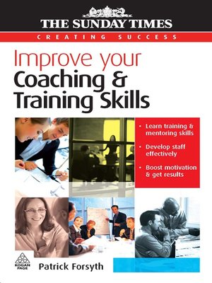 cover image of Improve Your Coaching and Training Skills