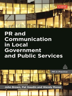 cover image of PR and Communication in Local Government and Public Services