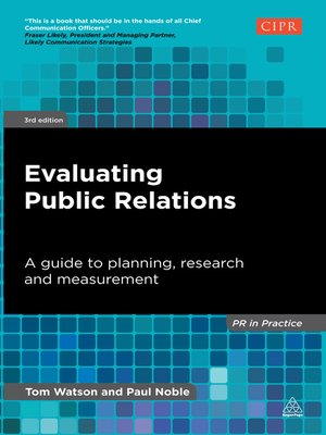 cover image of Evaluating Public Relations