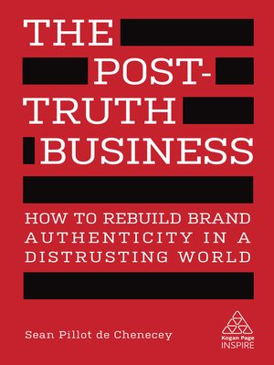 cover image of The Post-Truth Business