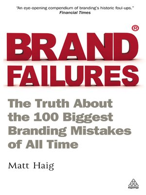 cover image of Brand Failures