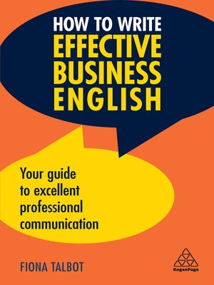 cover image of How to Write Effective Business English