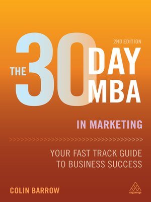 cover image of The 30 Day MBA in Marketing