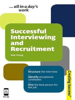 cover image of Successful Interviewing and Recruitment