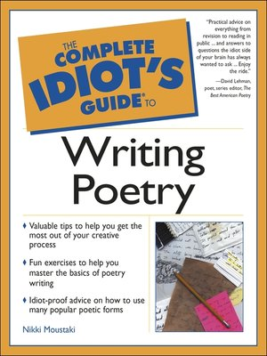 cover image of The Complete Idiot's Guide to Writing Poetry