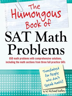 the humongous book of sat math problems pdf