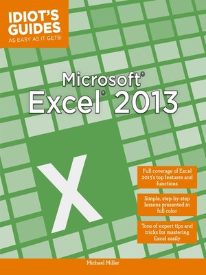 cover image of Microsoft Excel 2013