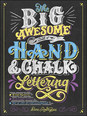 cover image of The Big Awesome Book of Hand & Chalk Lettering