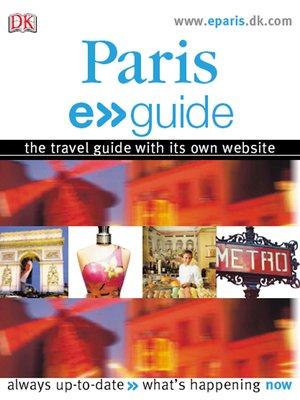 cover image of Paris e>>guide