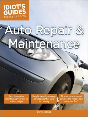 cover image of Auto Repair and Maintenance