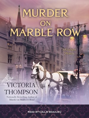 cover image of Murder on Marble Row